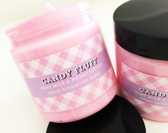 Candy Fluff Lotion, Hand Lotion, Body Lotion, Goat Milk Lotion, Body Cream, Hand Cream, Fruity Candy Hand and Body Moisturizer