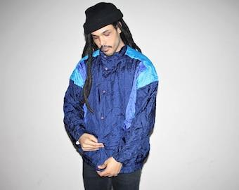 1990s Vintage Christian Dior Designer Colorblock Windbreaker Jacket - 90s Clothing - MV0047