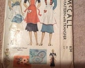 Vintage 1930s Pattern Apron For Ladies Cut Complete Transfer Included Dated 1938 McCall # 634