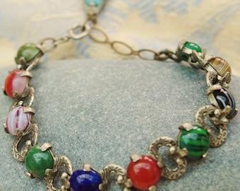 Vintage - Decorative - Scottish - Miracle - Multi-Stoned Bracelet - c1960s