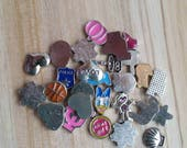 10 Assorted Floating Locket Charms - Grab Bag - Surprise Assortment