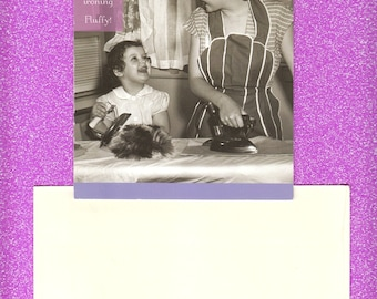 Bizarre Mother's Day Card - Comical - Very Strange - Funny - Where's Fluffy? - Peculiar - Humorous - Strange - Odd Card!