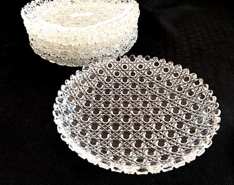 Brilliant Cut Glass Plate Crystal Plates Cut Glass Dish Crystal Salad Plates Glass Dessert Plate Formal Table Setting