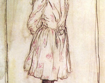 Alice,  Arthur Rackham, Vinatge Art Print