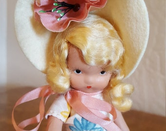 Nancy Ann Story Book Doll - Mistress Mary - Blond Made in USA - Oak Hill Vintage