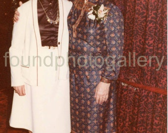 Vintage Photo, Two Well Dressed Women, 1970's Fashion, Color Photo, Found Photo, Old Photo, Vernacular Photo, Snapshot