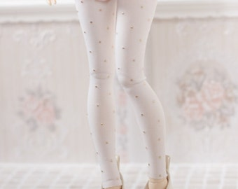 white leggings and gold dots for BJD