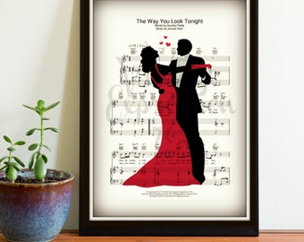 The Way You Look Tonight Frank Sinatra First Dance Wedding Song Print