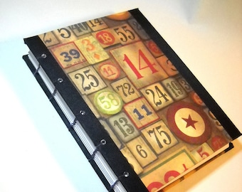 Coptic Journal, Hardcover Journal, Grunge Journal, Numbers Journal, Coptic Stitch Journal