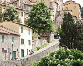 Tuscany Photography - Italy Travel Photography - Rustic European Wall Art - Tuscan Decor - Italian Photo - Tuscany Picture  Small Town Print