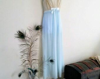 Gorgeous Vintage Soft Blue Vanity Fair Sheer Nightgown