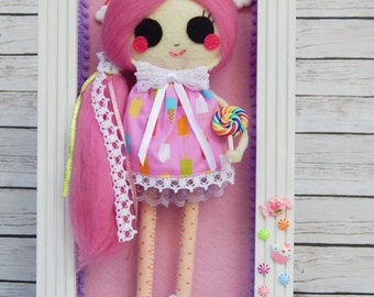 Lolli Princess Felt Doll Wall Art