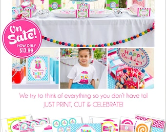 Sweet Shoppe Birthday | Sweet Shoppe Party | Sweet 16 Birthday | Sweet Sixteen Party | Candyland Party | Instant Download | Amanda's Parties