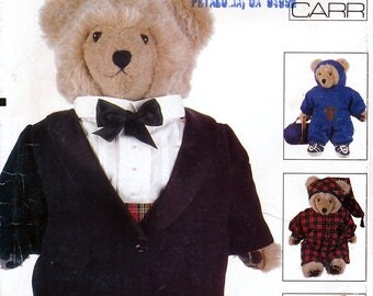 Vogue Craft 610 Sewing Pattern by Designer Linda Carr for Bear Clothes - Uncut