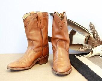Vintage 70s Frye Boots | 1970s Short Boots | Western, Boho, Rockabilly | Men's Size 8