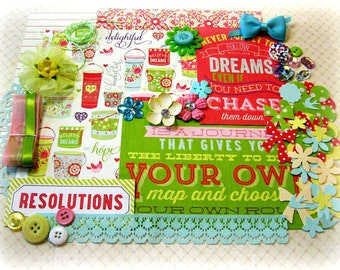 Webster's Pages New Year, New You Embellishment Kit Inspiration Kit for Scrapbook Layouts Cards Mini Albums Tags and Paper crafts 2