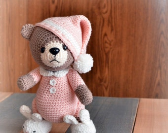 Crochet Teddy Bear, Teddy Bear Toy, Amigurumi Bear, MADE TO ORDER