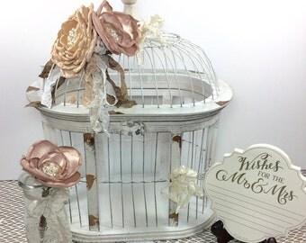 Wedding Birdcage, Wedding Advice Birdcage, Wedding Money Box, Wedding Card Holder, Bridal Shower Gift, Wedding Decor, Wedding Centerpiece.