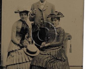 Tintype Photograph The trio