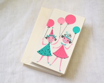 1950s NOS Party Invitations with Envelopes, Set of 25