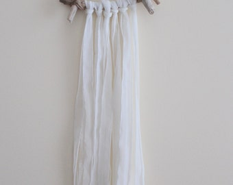 Wall Hanging | Décor | Clear Quartz | Driftwood | Fabric