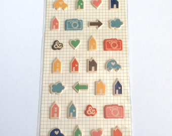 American Crafts Amy Tangerine Ready Set Go Remarks Tiny Puffy Stickers