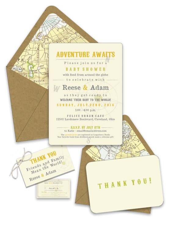 Welcome to the World Baby Shower Invites