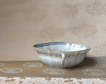 Antique Porcelain Dipping Dish Sauce Bowl- European Fine Porcelain Richard Gnori