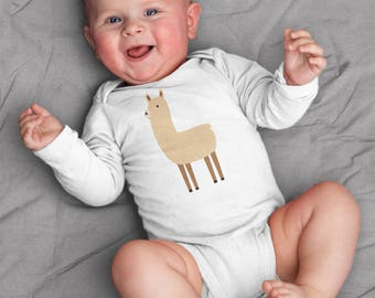 Baby clothes, Llama baby bodysuit, baby boy clothes, baby girl clothes, llama baby gift