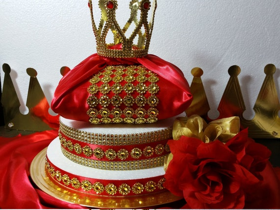 centerpiece boys royal red gold baby shower theme and decorations