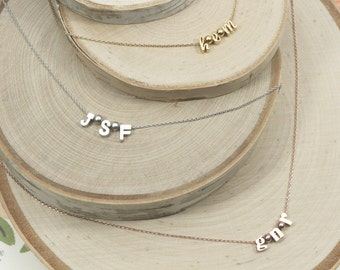 Initial Necklace | Monogram Initials | Necklace for Mom | Gift For Her | Best Friends Necklace | Sisters Necklace | Mothers Day Gift