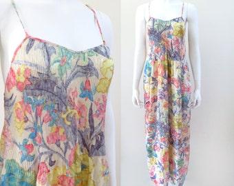 Mary McFadden Damask Micro Pleat Nightgown, Size Large