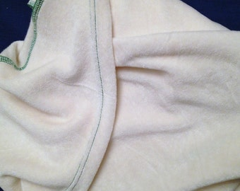 """Bamboo Velour Hooded Towel, Large Organic Baby Towel, 36x36"""", Your choice of thread color"""