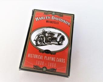 Vintage Harley Davidson   Playing Cards   Motorcycle Gifts   Harley Davidson Collectible