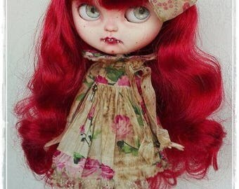 ARCADIA Victorian Vampire Girl Icy Doll / Blythe custom doll by Antique Shop Dolls
