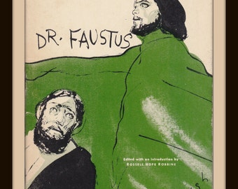 Dr. Faustus- 1940s Vintage Booklet- Christopher Marlowe- Tragical History- Theater Classic Play Script- Barron's Educational- Paper Ephemera