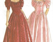 90s Womens Dropped Waist Ballgown Sweetheart Neckline New Look Sewing Pattern 6489 Size 6 8 10 12 14 16 18 Bust 30 1/2 to 40 UnCut