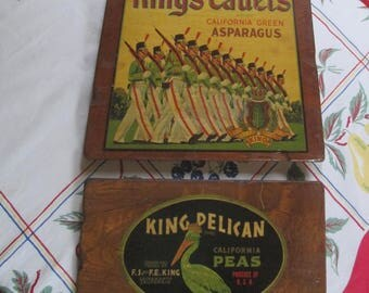 Vintage Crate Labels Wall Hanging / Vintage Advertising / Vegetable Crates Labels