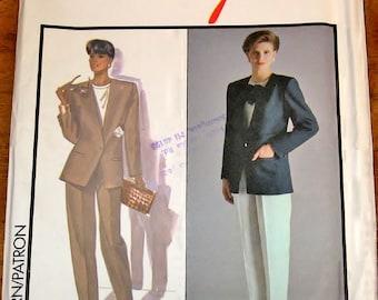 Vintage 1980s Alfred Sung Designer Sewing Pattern Style 1028 Suit Separates, Jacket, Blouse, Pants Womens Misses Size 18 Bust 40 Uncut FF