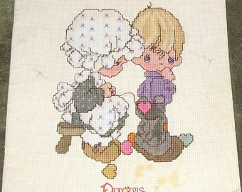 Gloria and Pat Precious Moments Cross Stitch Pattern Leaflet Book PM2 Copyright 1981 24 Pages 17 Charts Graduation Wedding Holiday Religious