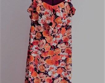 Plus Size Floral Slip Dress