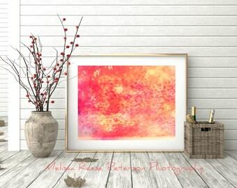 Dreamy Leaves, Nature Photography, 6x8+More, Prints, Fall, Autumn, Leaf Art, Seasons Home Decor, Orange, Bokeh