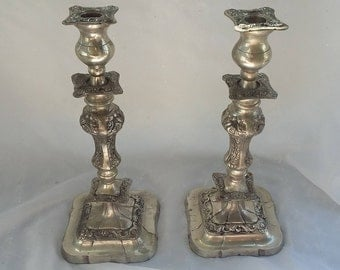 Set of Two Tall Taper Candle Holders
