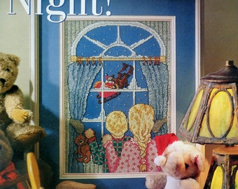 Cross Stitch Pattern | AND To ALL A GOODNIGHT | Children & Santa Claus | fam