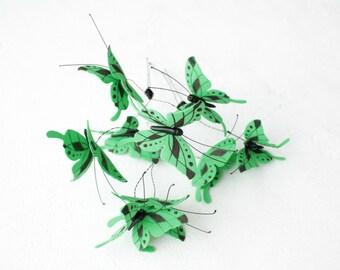 Green Butterflies Hair Pins Set Wholesale Hairpins Accessory Decoration Butterflies Hair Piece Headpiece Bridal Wedding Birthday Valentines