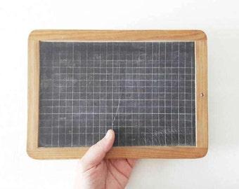 Vintage French Lined Slate Board