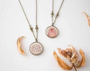 Reversible Mothers Day Necklace, Initial Necklace, Bridesmaids Personalized Necklace, Bridesmaid Gift, Letter Charm, Monogram Necklace, Gift