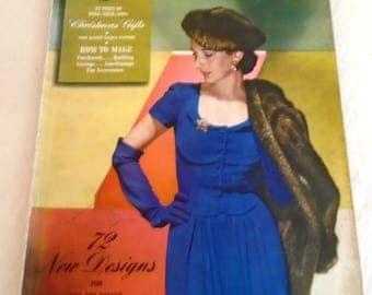 Vintage Vogue Pattern Book December-January 1942-3 Complete WWII Era
