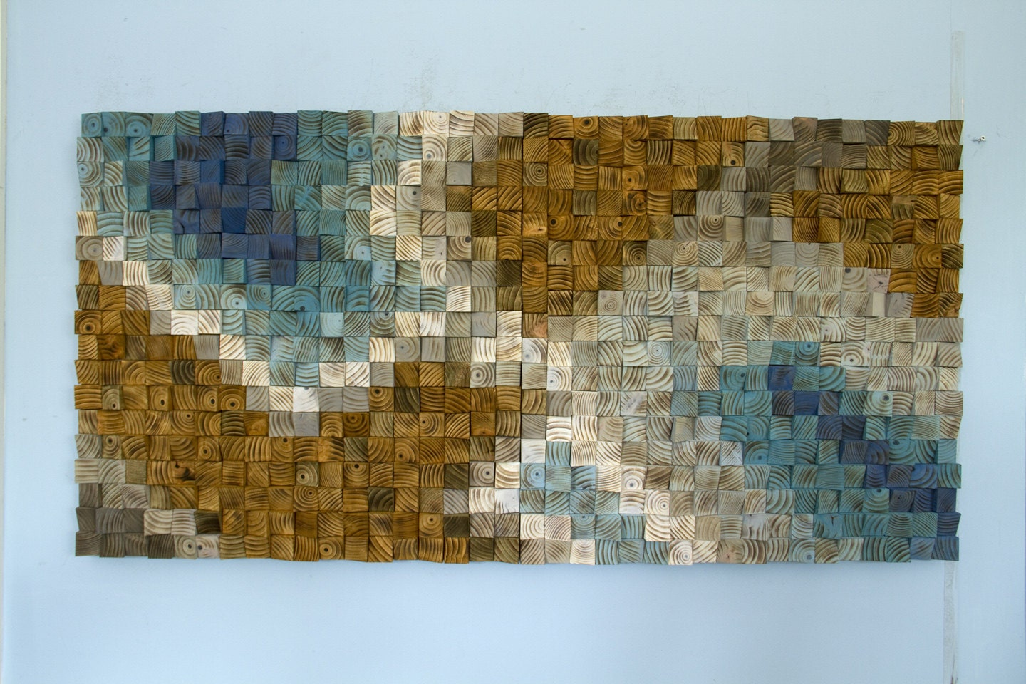 Wooden Wall Art For Sale Adorable Large Wood Wall Art Wood Mosaic Geometric Art Large Art Inspiration Design