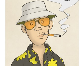 Hunter S. Thompson - Illustration Print